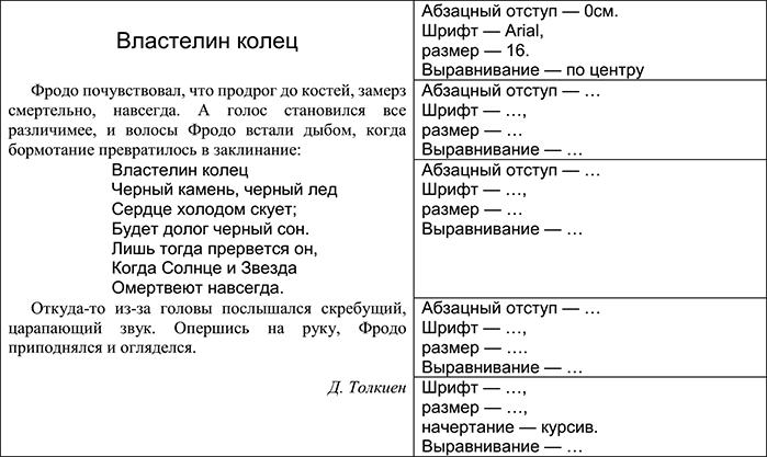 Создание текстовых документов 3 вариант