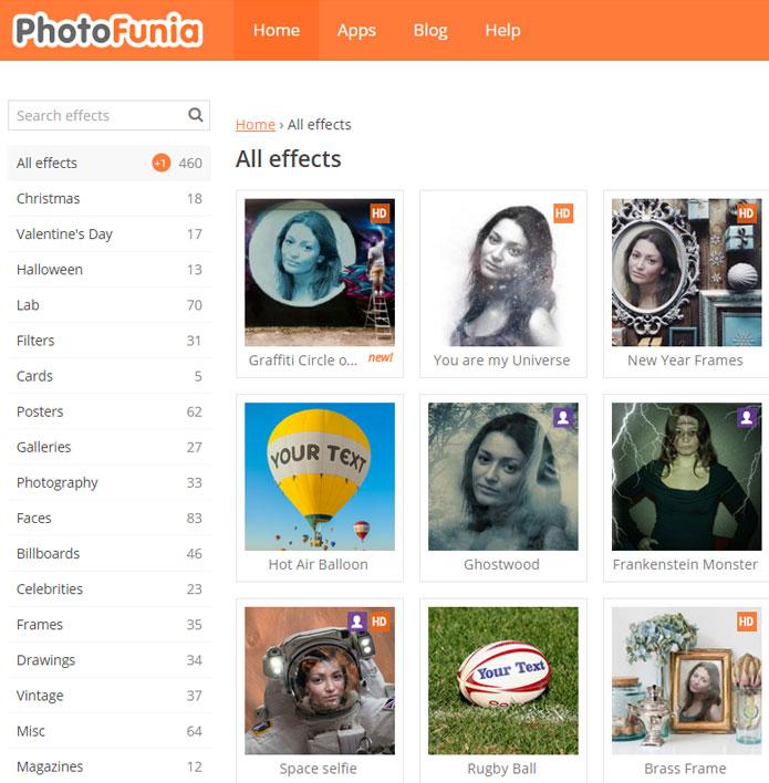 Эффекты для фотографий онлайн
