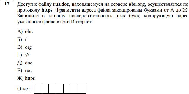 Решение 17 задания ОГЭ 2016