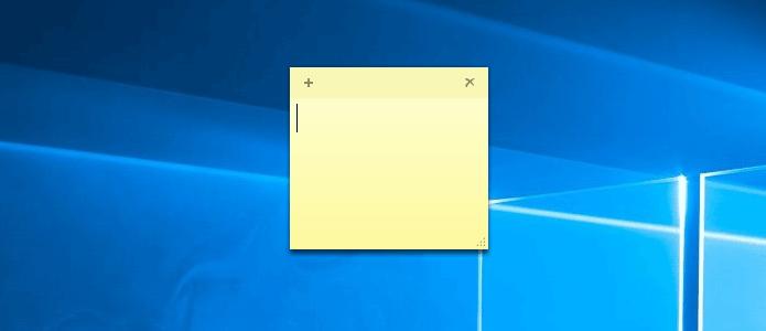 Записка на рабочем столе Windows 10